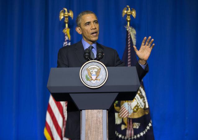 美总统称巴黎协议虽不完善但很及时