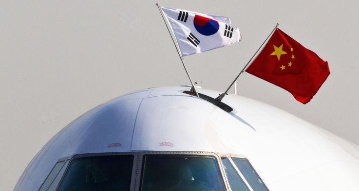 韩国总统文在寅抵达北京