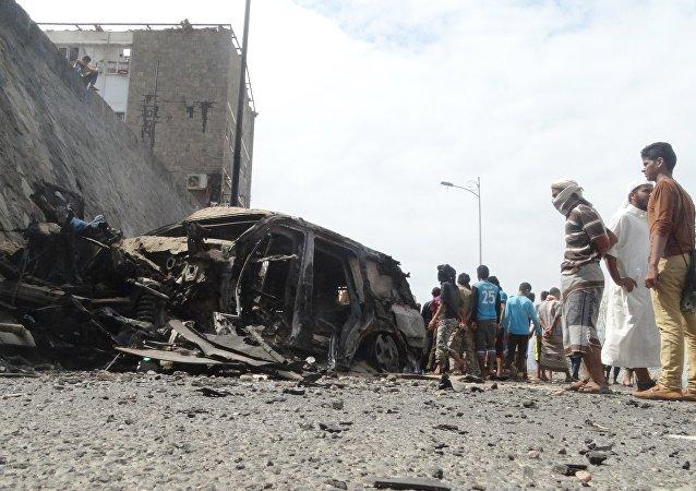 消息人士:发生于也门亚丁市的恐怖袭击已致使8人死亡