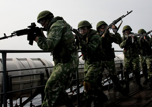 俄东部军区反恐分队大型演习开始