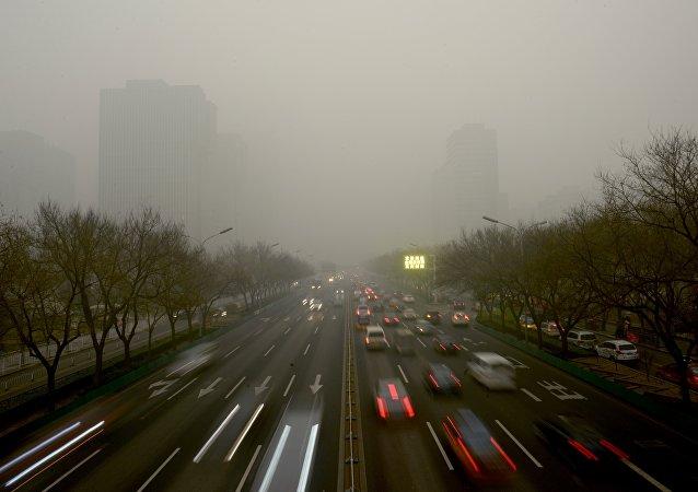 中国大型城市雾霾/资料图片/
