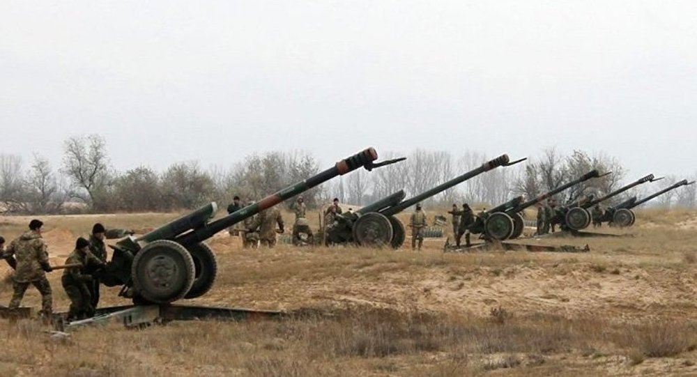 烏強力人員指責頓巴斯民兵一夜間25次炮擊