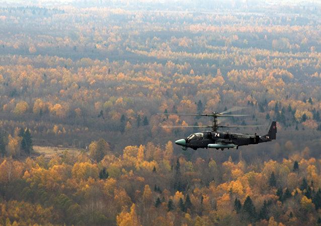 卡-52直升机
