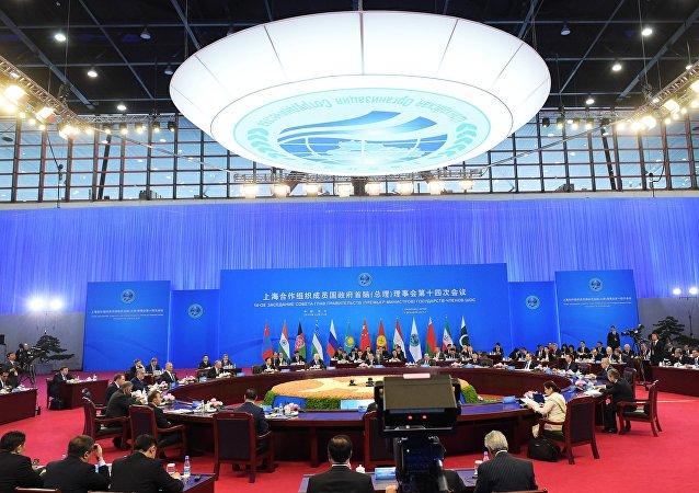 俄总理在上合成员国政府首脑理事会会议前会晤吉尔吉斯斯坦总统