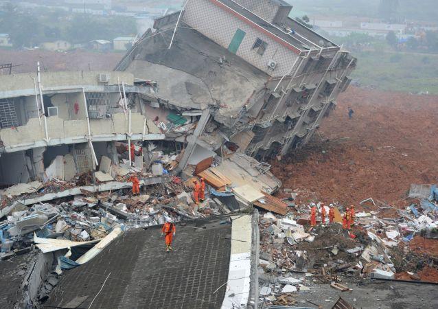 深圳山体滑坡造成的破坏