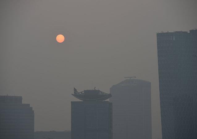 中国因雾霾再度宣布提高环境风险预警水平