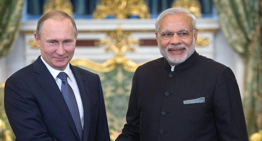 俄印两国领导人高度评价在各领域达成的共识