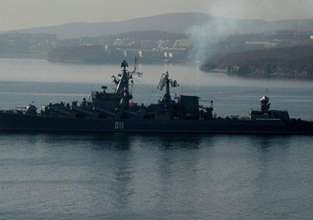 俄太平洋舰队船只在印度洋进行防空演习并访问印尼