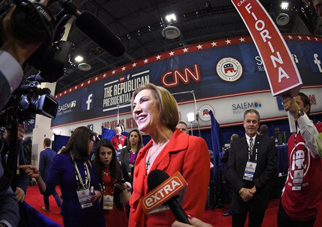 美国共和党总统候选人卡莉·菲奥莉娜(Carly Fiorina)