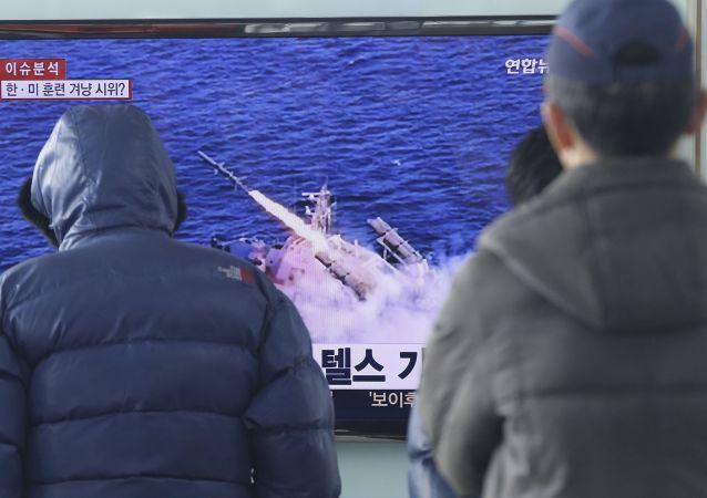 韩国军方:朝鲜潜基发射导弹的新视频造假