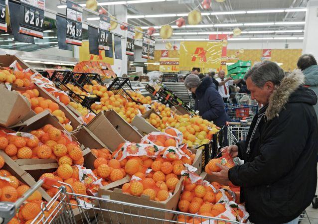 莫斯科超市/资料图片/