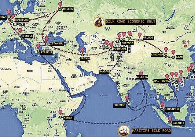 """中国外长:共建""""一带一路""""为中国与新加坡关系开辟前景"""