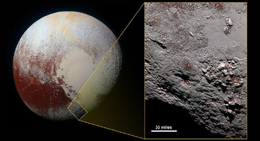美国宇航局公布冥王星疑似低温火山图像