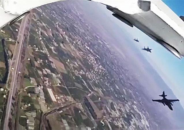 俄战机在叙利亚
