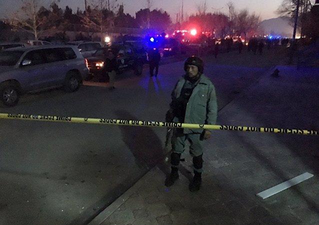汽车炸弹在俄罗斯驻喀布尔使馆附近爆炸