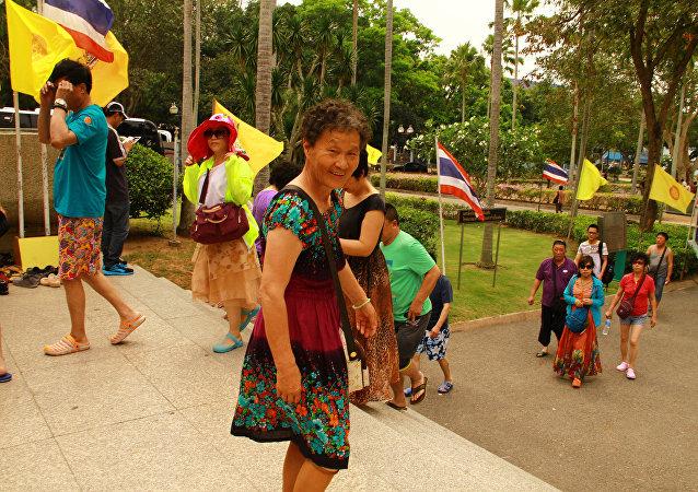 中国旅客在泰国