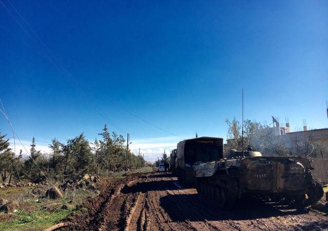 叙利亚武装人员向德拉省上交二十余辆坦克