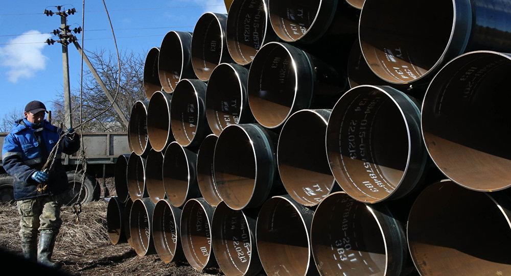 """俄能源部长:""""北溪-2""""管道已铺设约700公里"""
