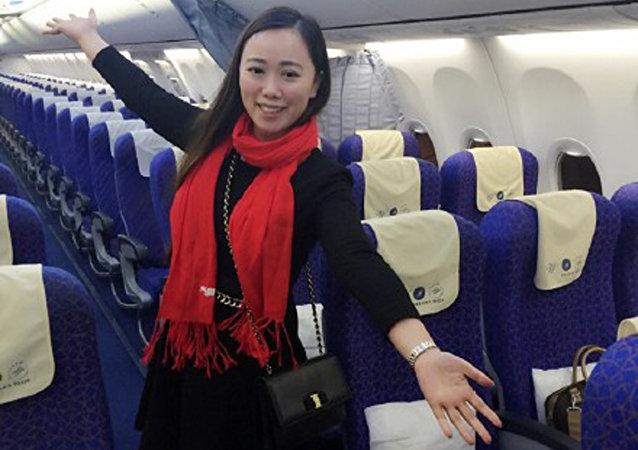 一名张姓女孩成了一架从武汉飞往广州的航班上的唯一乘客