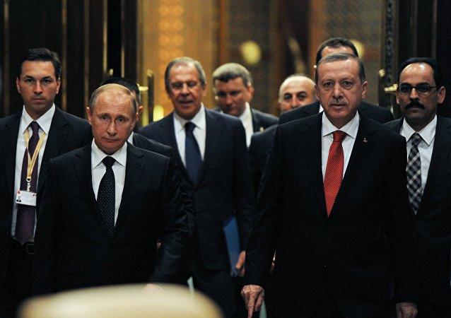 俄罗斯与土耳其总统
