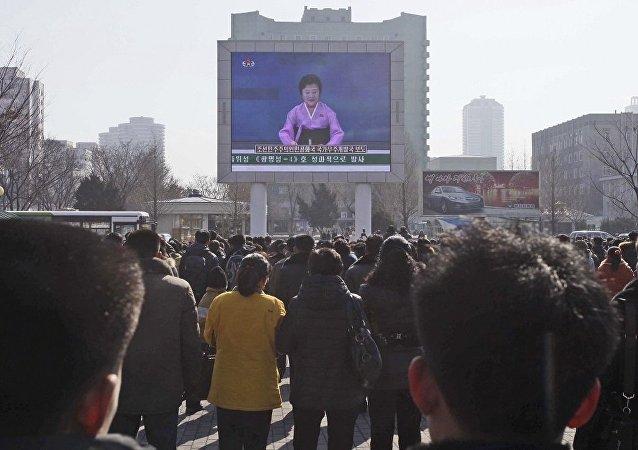 朝鲜电视台宣布人造地球卫星被成功送入轨道