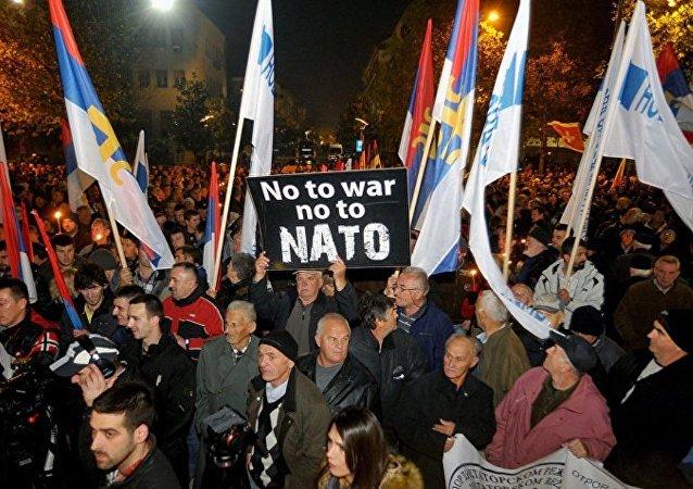 黑山人反对加入北约