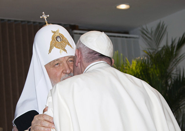 莫斯科及全俄宗主教基里尔和罗马教皇方济各