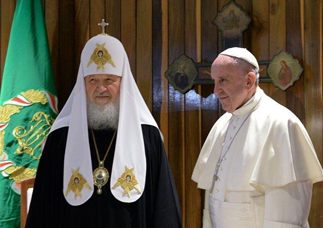 全俄大牧首与罗马教宗会晤后称欧洲面临去基督教化风险
