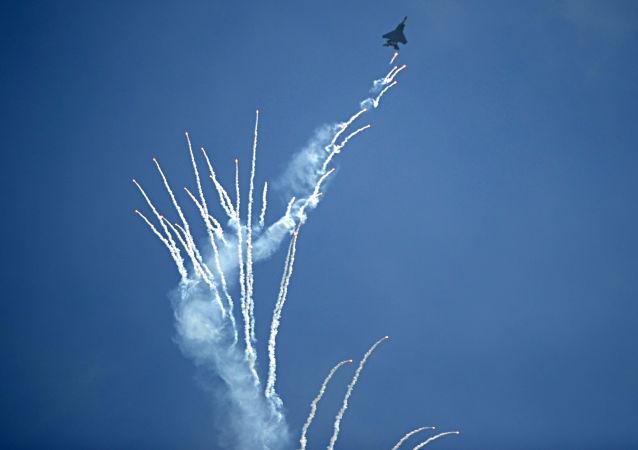 新加坡航展一飞机起火 飞行表演提前结束
