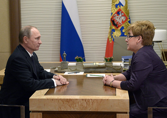 弗拉基米尔·普京与娜塔莉亚·日丹诺娃