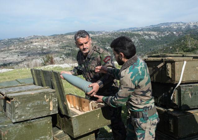 叙利亚军人在伊德利卜