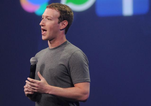 社交网站脸书创始人马克·扎克伯格