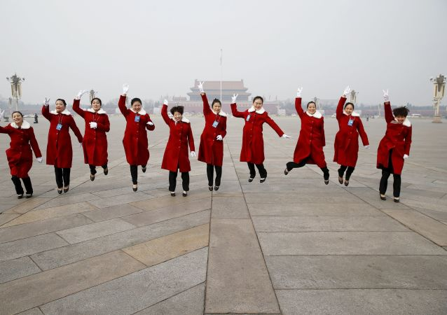 北京天安门广场的服务员们