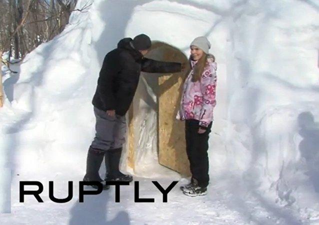 勘察加建起俄罗斯首个雪屋宾馆