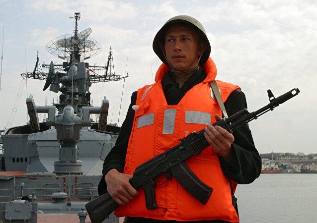 黑海舰队敏捷号护卫舰出发前往地中海