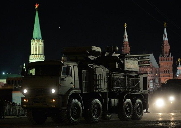 """""""铠甲-S""""防空系统在莫斯科进入战斗执勤"""