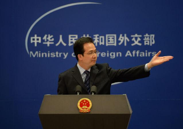 中国外交部新闻发言人洪磊