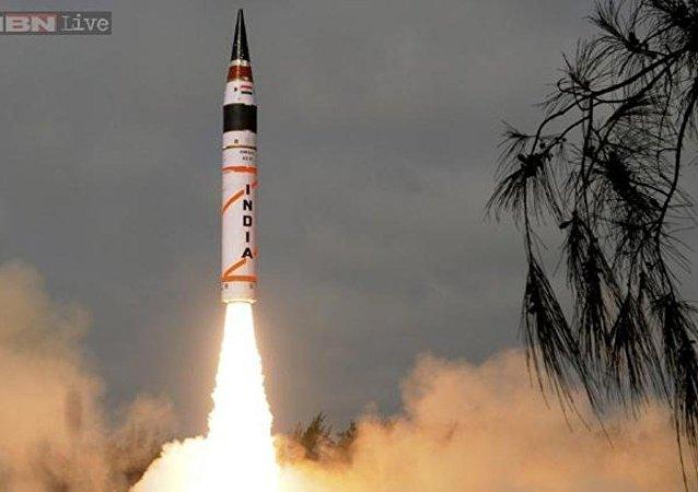 """外媒:印度再次试射""""烈火-1""""弹道导弹"""