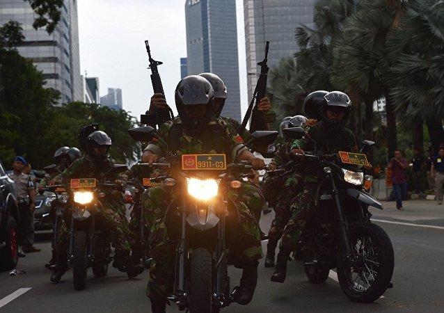印尼国防部:该国将与菲律宾与马来西亚举行反恐演习