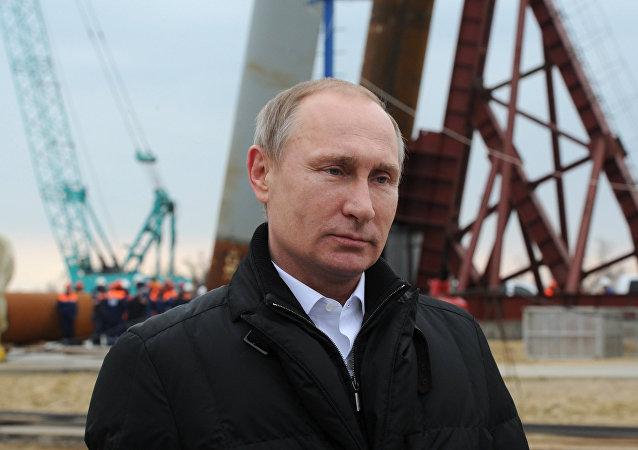 普京认为刻赤大桥将成为俄罗斯与克里米亚统一的一个标志