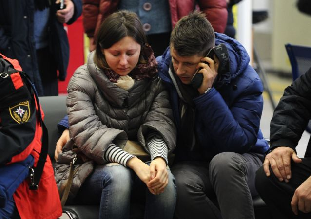 在顿河畔罗斯托夫机场坠毁的波音737-800飞机遇难乘客家属们