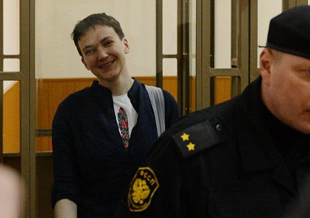 俄司法部收到将萨夫琴科遣送回乌克兰的询函