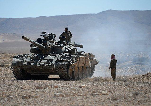 叙利亚民兵坚守巴尔米拉市内一座酒店