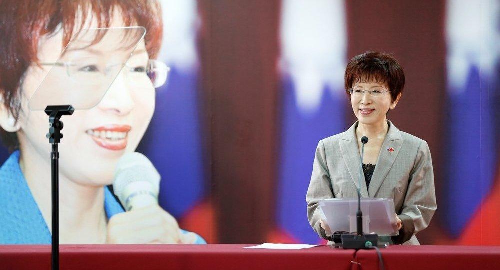 台湾著名政治家洪秀柱成为国民党历史上第一位女性党主席