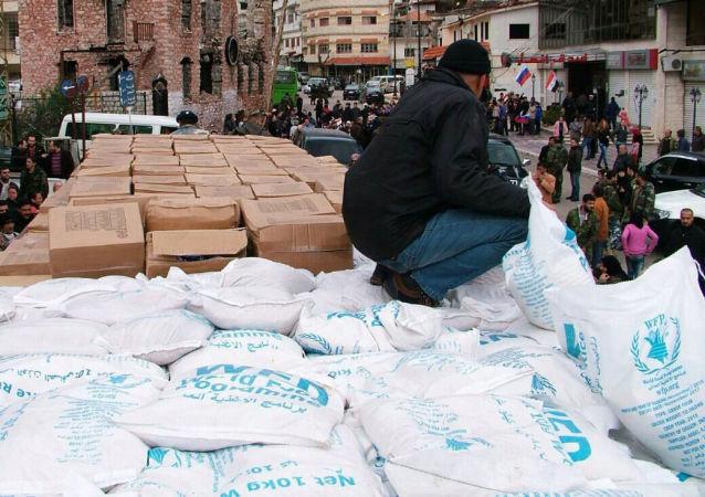 俄军方已将吨余人道主义救援物资运往拉塔基亚难民中心