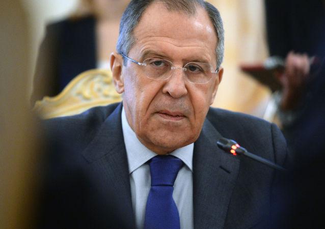Министр иностранных дел РФ Сергей Лавров во время встречи в Москве с министром иностранных дел Египта Самехом Шукри