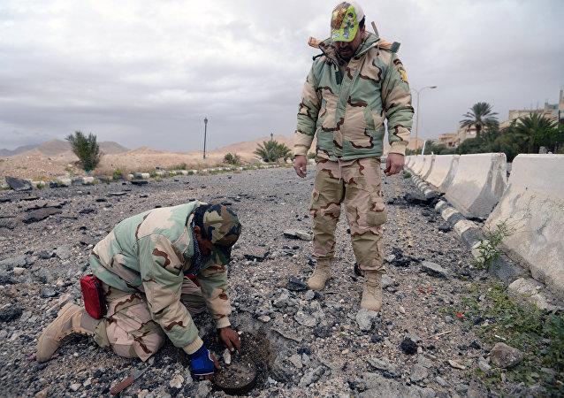 俄驻叙停火协调中心:叙军已排除巴尔米拉至代尔祖尔4公里路段地雷