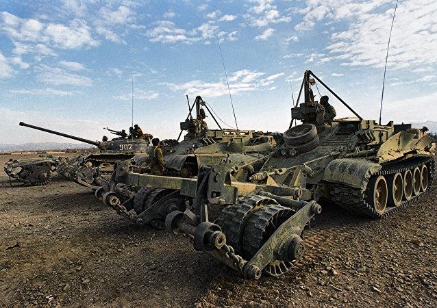 俄国防部:俄工兵一昼夜在巴尔米拉排雷158枚