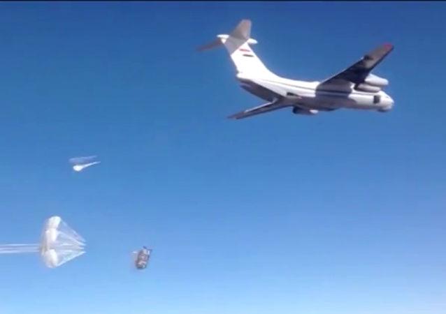 俄方过去一个月向叙代尔祖尔投放320多吨联合国援助物资