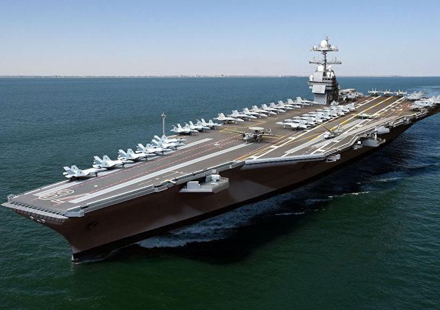 美国新一代核动力航空母舰杰拉尔德•福特号